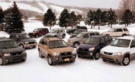 2001 Compact Suv Comparison Test In The Snow Jeep Cherokee Suv Comparison Honda Cr