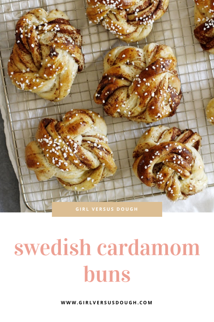 Swedish Cardamom Buns Recipe   Girl Vs Dough