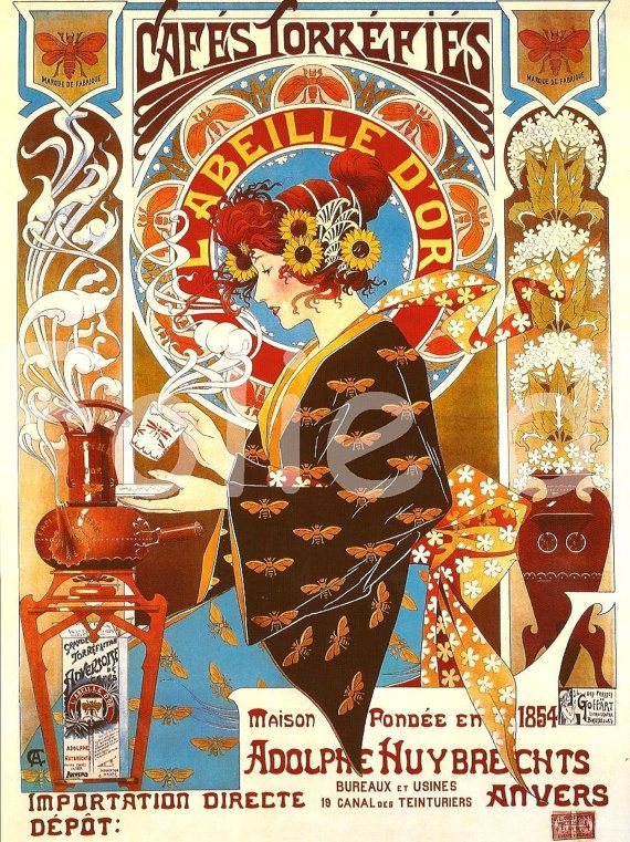Art Nouveau Advertising Print Poster