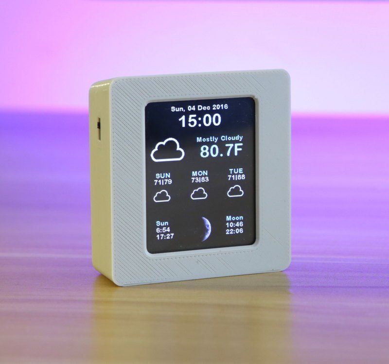 ESP8266 WiFi Weather Station with Color TFT Display #touchscreendisplay Use the ESP8266 to pull weather conditions and forecast to display them on a color TFT touch screen display. #touchscreendisplay