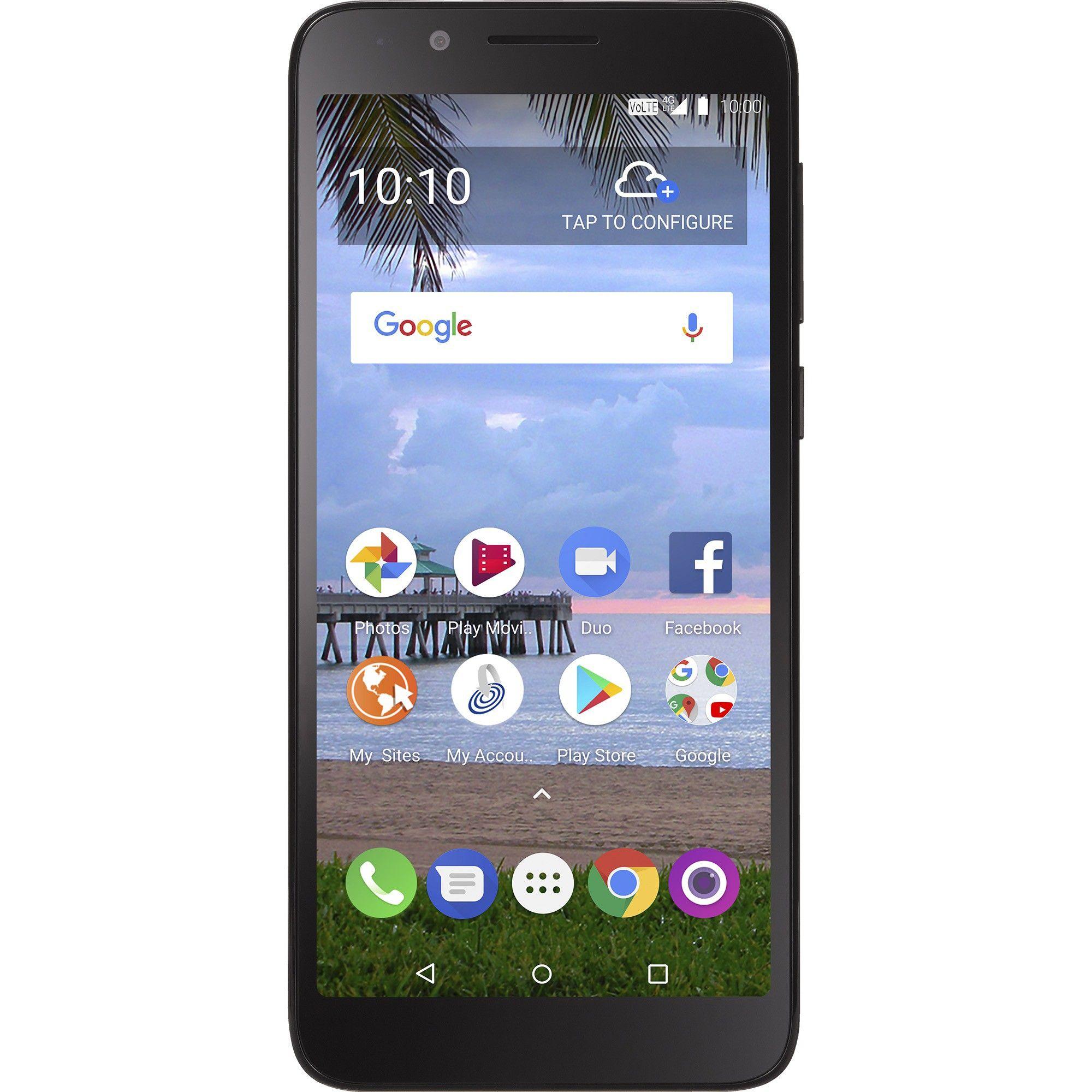 Simple Mobile Prepaid Tcl Lx A502dl 16gb Black Prepaid Phones Simple Mobile Smartphone