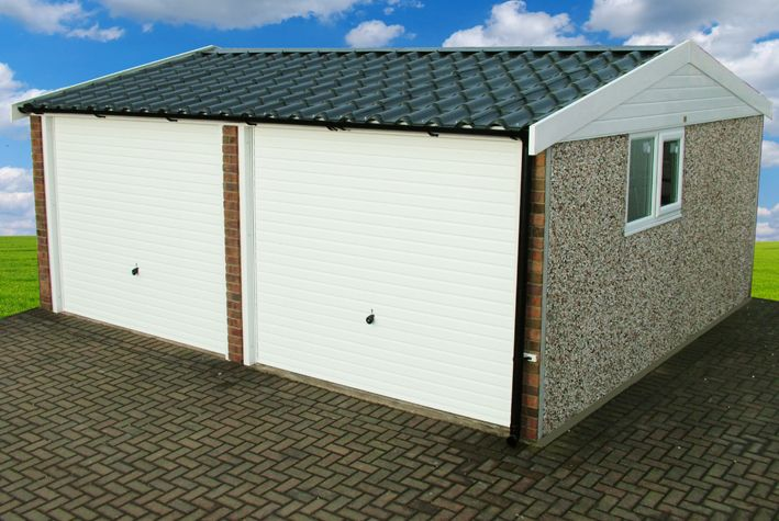 Best Apex 90 Roof Concrete Garages Garden Buildings Concrete 640 x 480