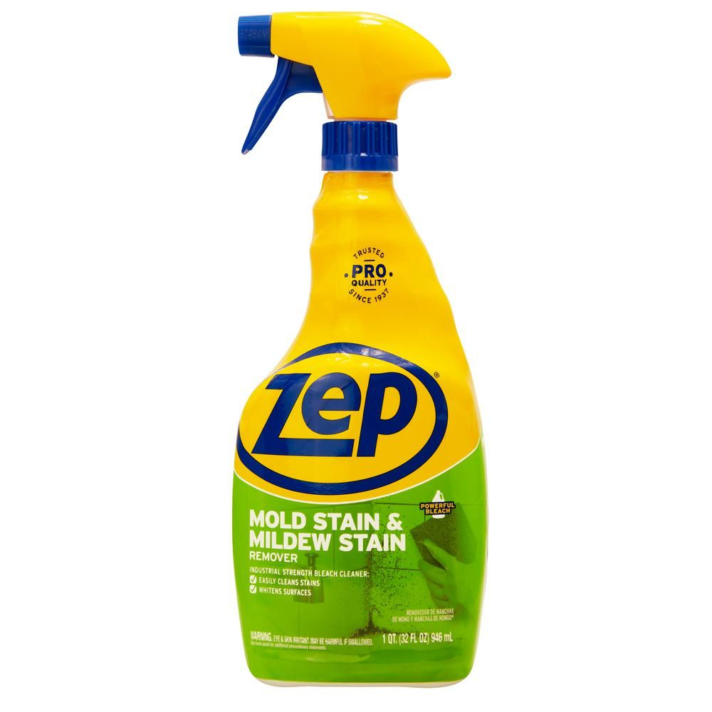 Zep 32 Oz Mold Stain And Mildew Stain Remover Mildew Stains Stain Remover Spray Stain Remover