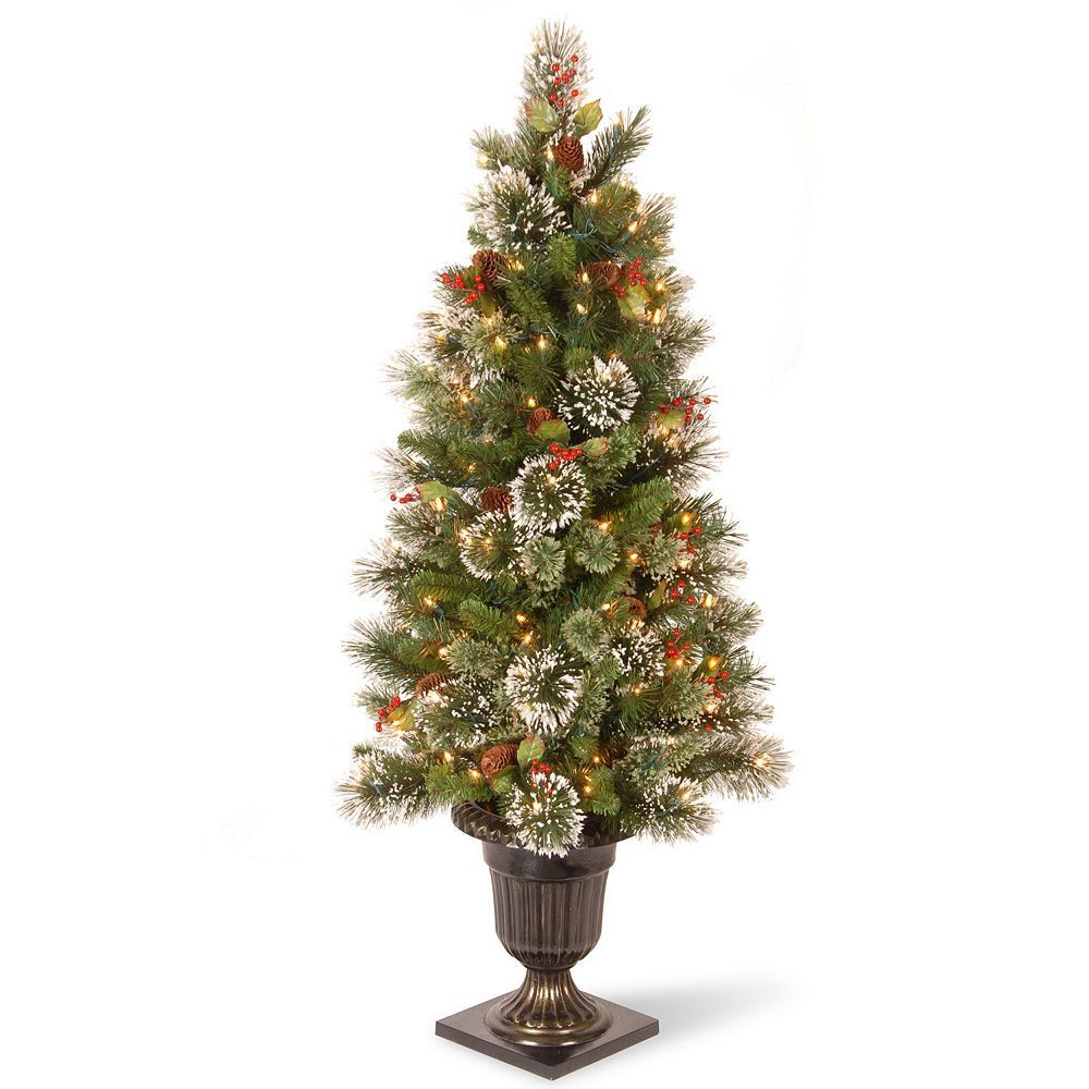 National Tree Company 4 Ft Pre Lit Artificial Wintry Pine Porch