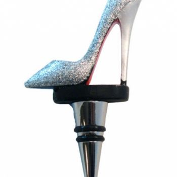 Silver Glitter High Heel Shoe Bottle Stopper 14 99 Usd