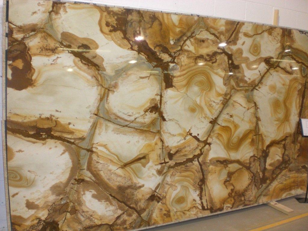 Palomino Granite Slab Kitchen