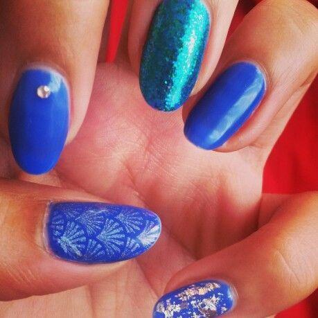 gelish  maliblu me away  gel polish nail designs nail