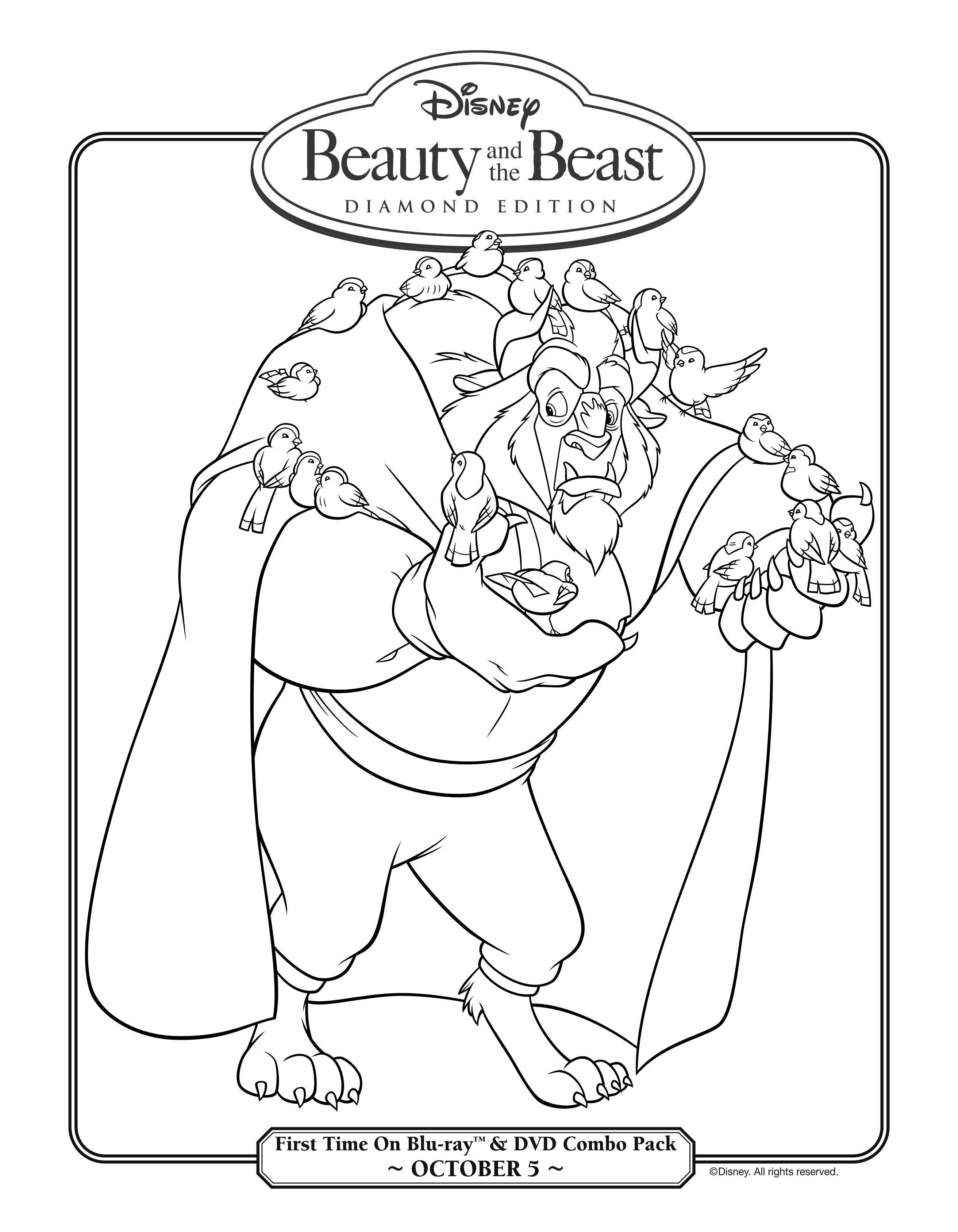 dibujo-para-colorear-la-bella-y-la-bestia-3d-6.jpg (JPEG Image, 2625 ...
