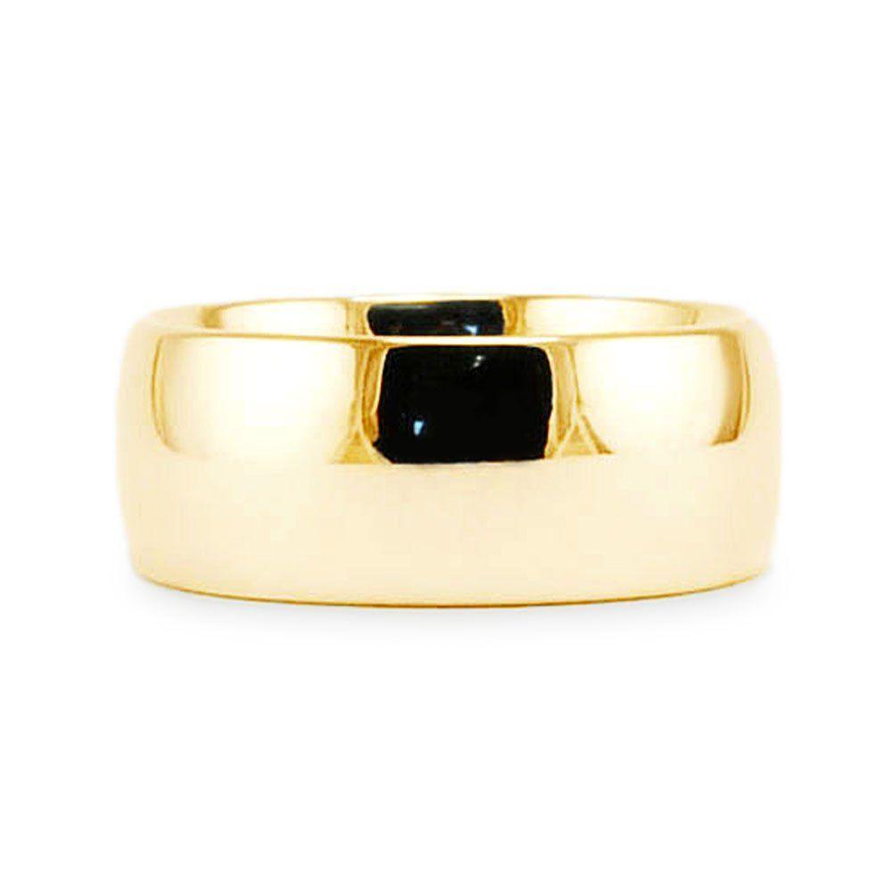 Menus u womenus k yellow gold plain classic mm comfort fit