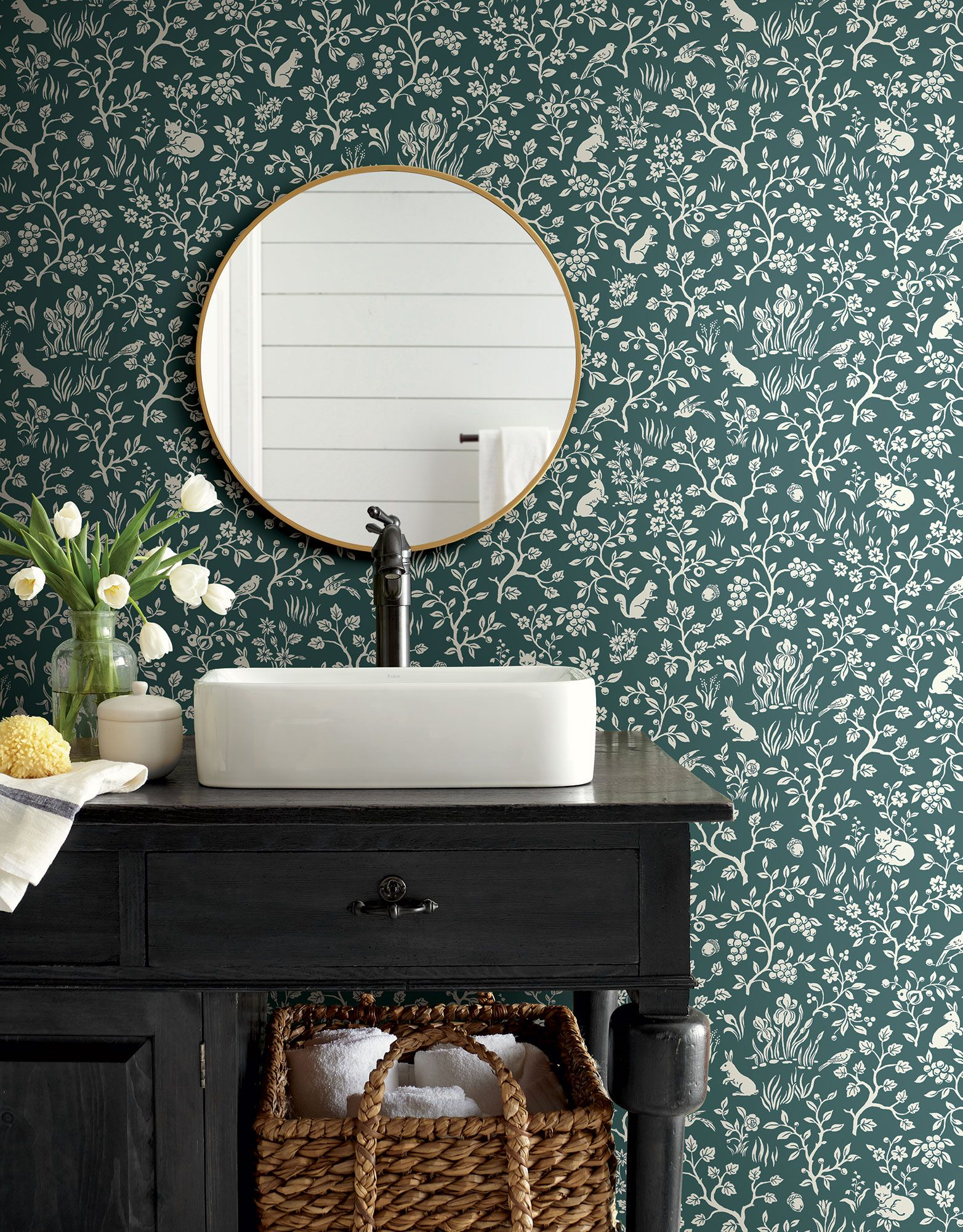 Magnolia Home Fox Amp Hare Wallpaper Weekends Teal