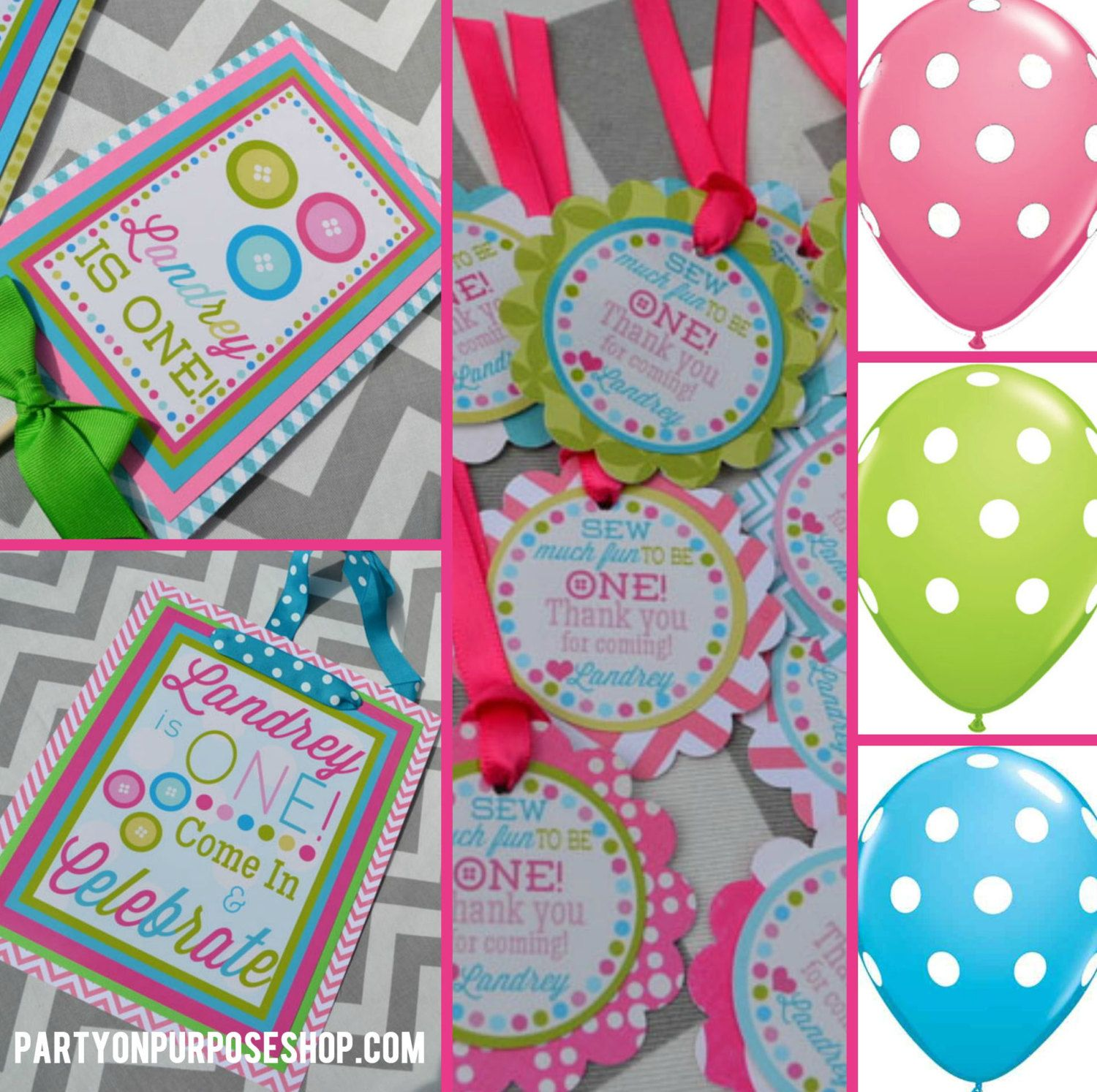 cute as a button birthday parties