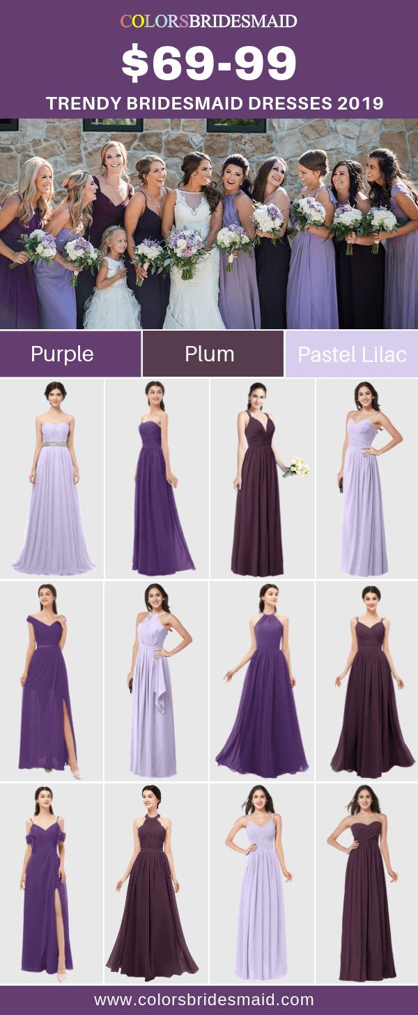 Bridesmaid Dresses 2019 Plum Bridesmaid Dresses Pastel Bridesmaid Dresses Purple Bridesmaid Dresses