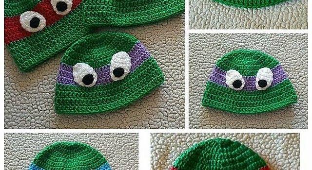Free Pattern These Seamless Ninja Turtle Hats Will Make A Lot Of