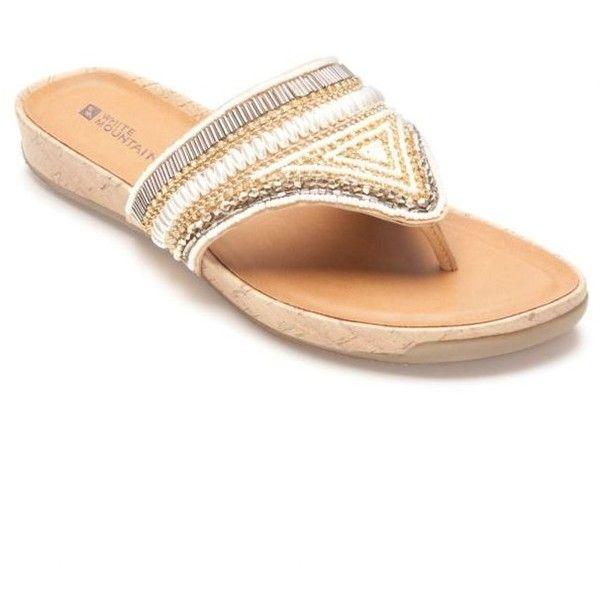 dad1a4d4e9f White Mountain Honey Clary Jeweled Sandal - Women s ( 21) ❤ liked on Polyvore  featuring shoes