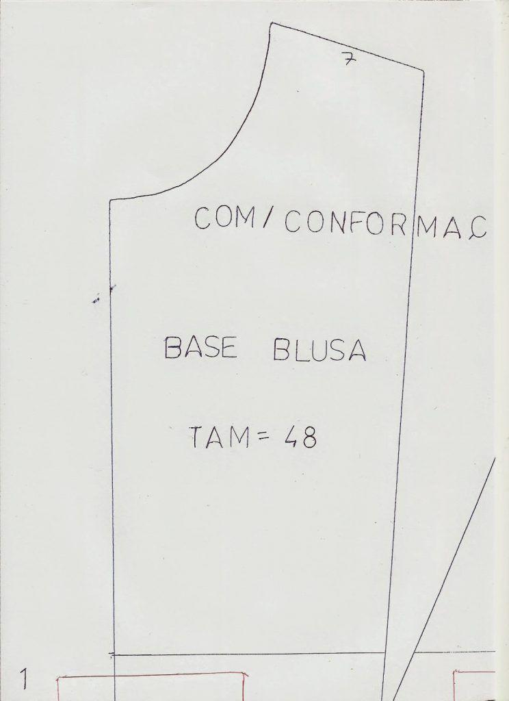Molde base de blusa tamanho 48 para imprimir grátis | patrones y ...