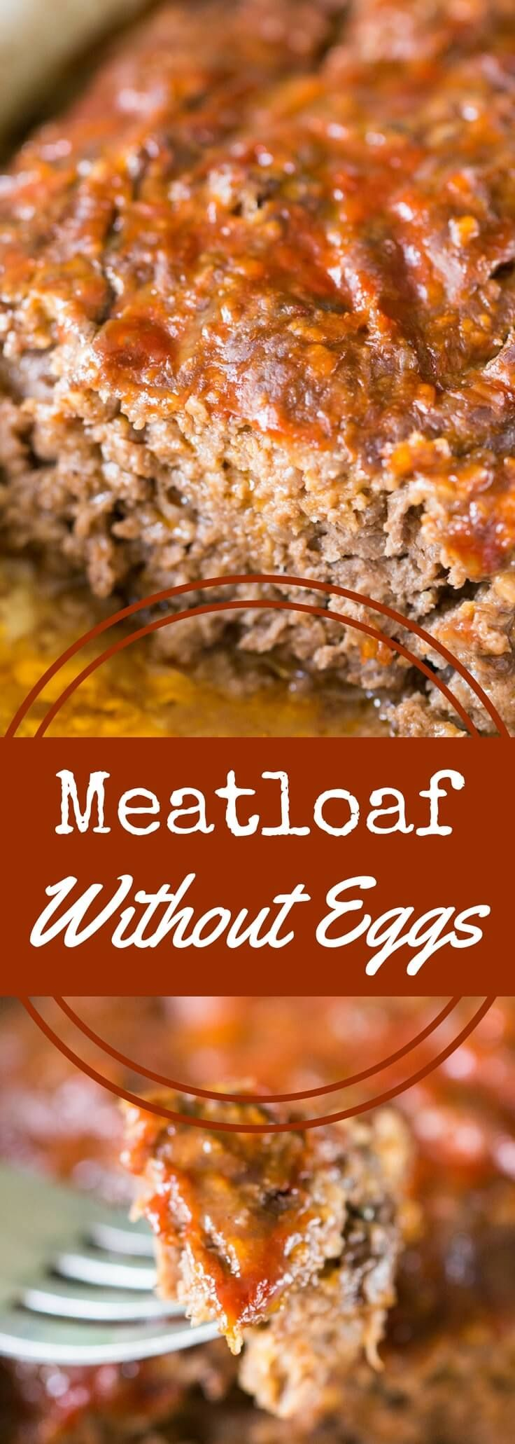 Meatloaf Without Eggs Recipe Recipes Meatloaf Meat Loaf Recipe Easy