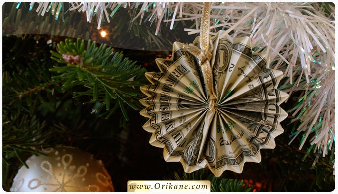 Learn How To Make A Money Origami Snowflake -Money Origami