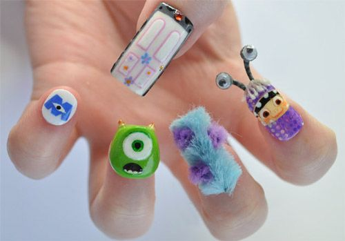monsters inc. nail designs   cute nail art   NailsShine.com