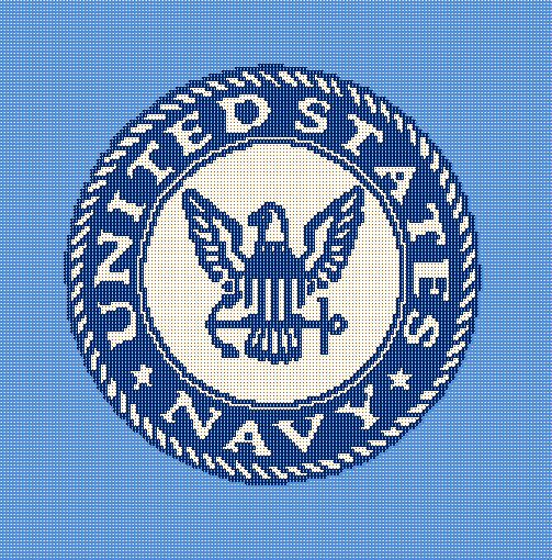 United States Navy Crochet Afghan Blanket Pattern Graphghan Us