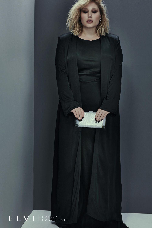 Hayley Hasselhoff for Elvi on the Curvy Fashionista