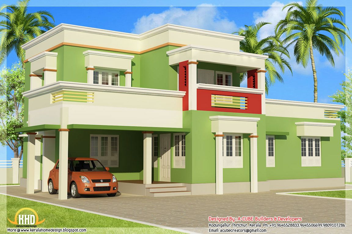 Simple Flat Roof House Plans | House Plans up to 1499 sq. ft ...