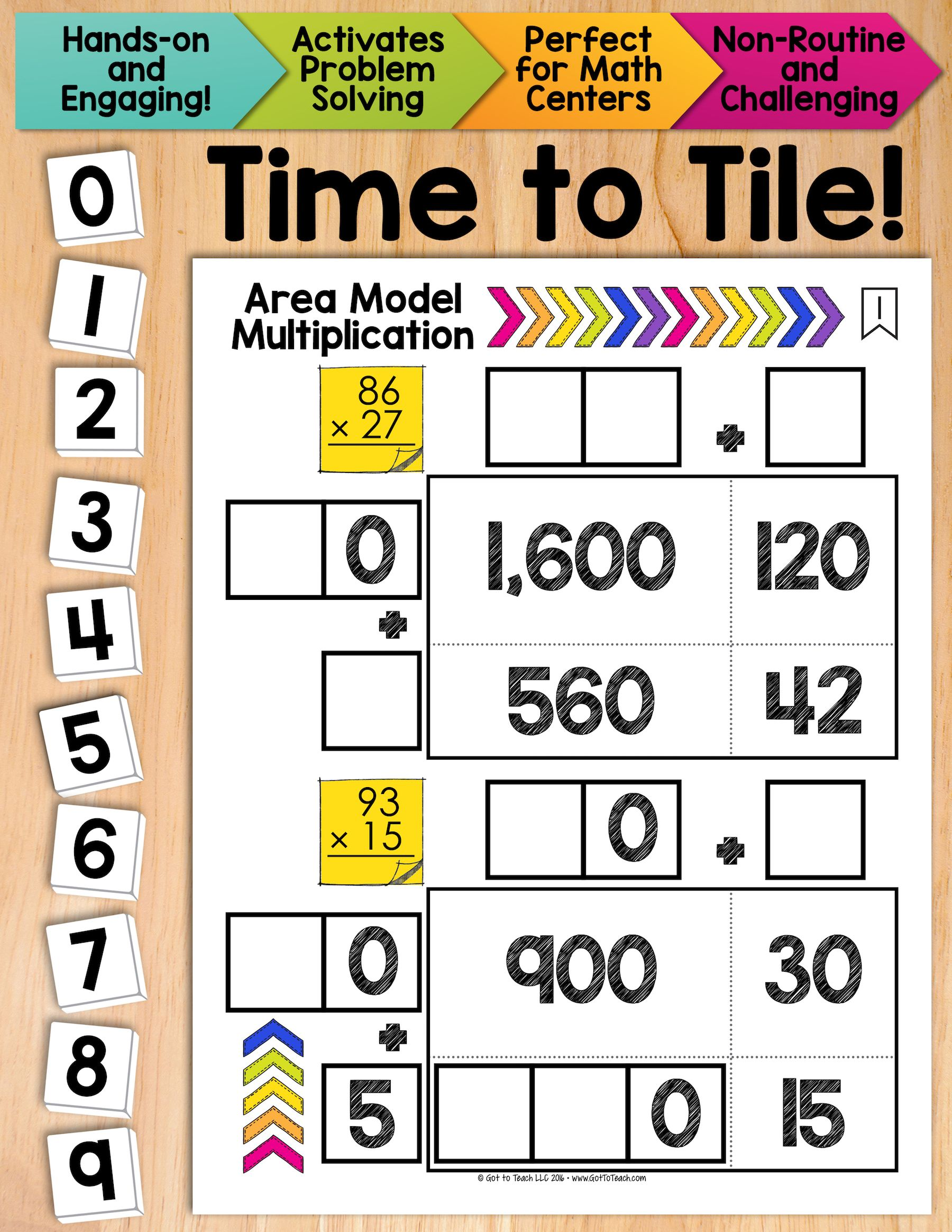 math tiles area model multiplication math centers fired up in fifth math centers. Black Bedroom Furniture Sets. Home Design Ideas