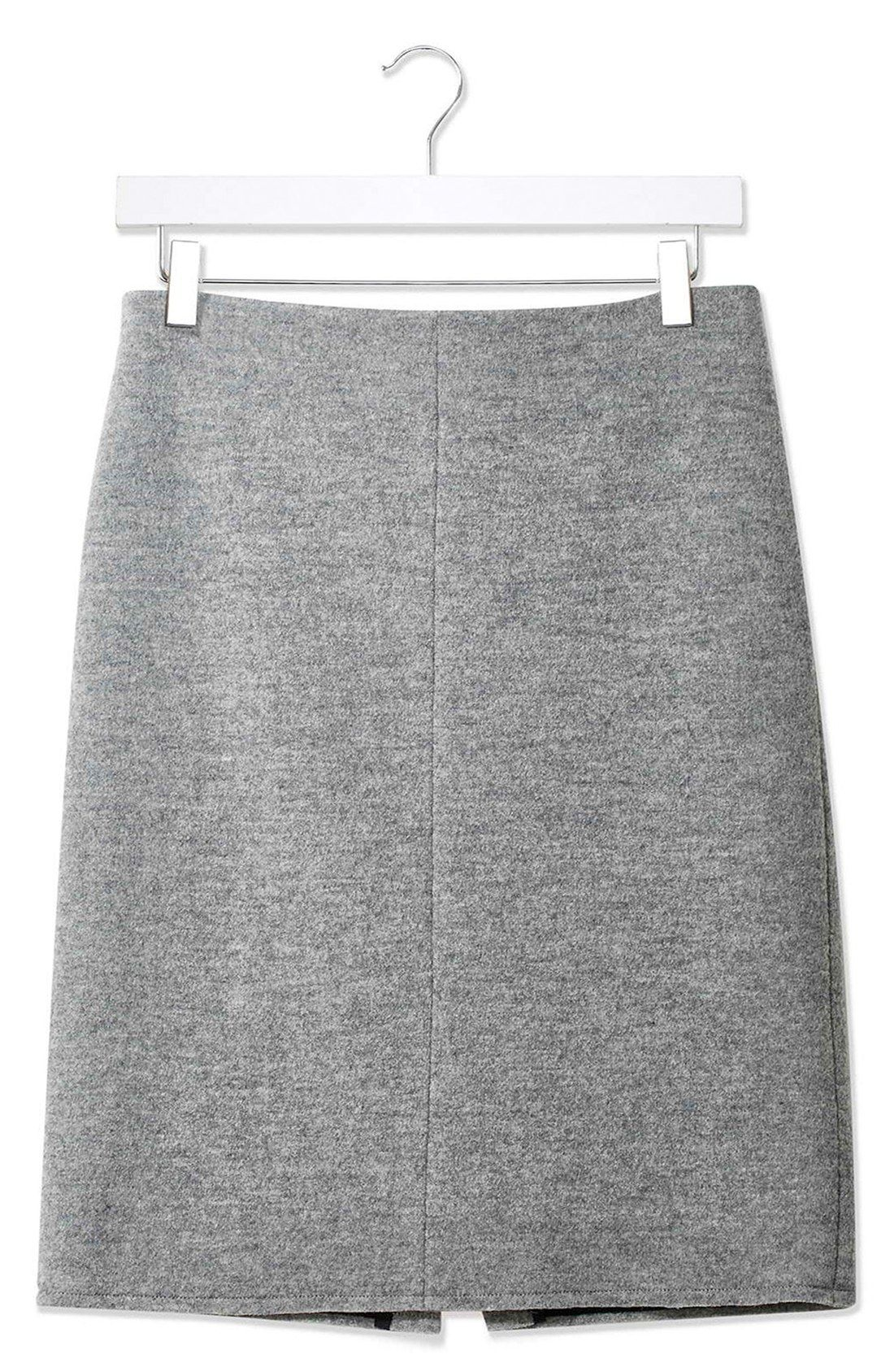 15492f5406 Topshop Boutique Boiled Wool A-Line Skirt | Wish List | Wool skirts ...