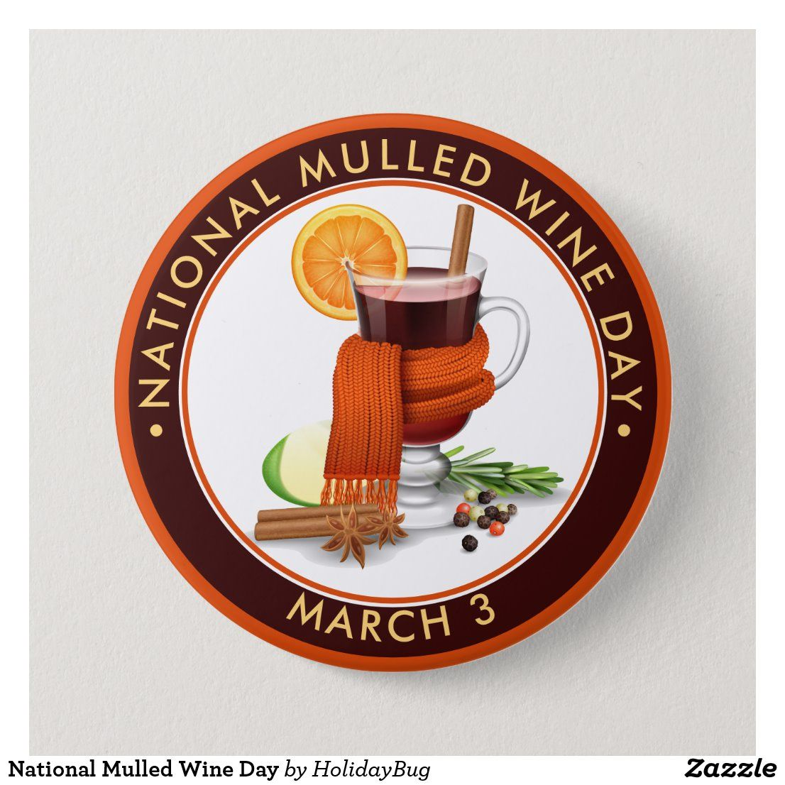 National Mulled Wine Day Button in 2020