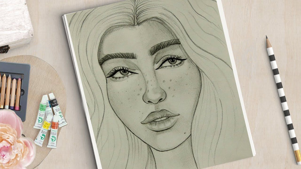 How To Draw Face For Beginners Easy Way To Draw A Realistic Face Simple Face Drawing Face Drawing Girl Face Drawing