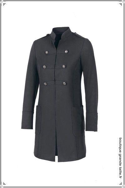 manteau officier grande taille hiver femme belle tenue. Black Bedroom Furniture Sets. Home Design Ideas