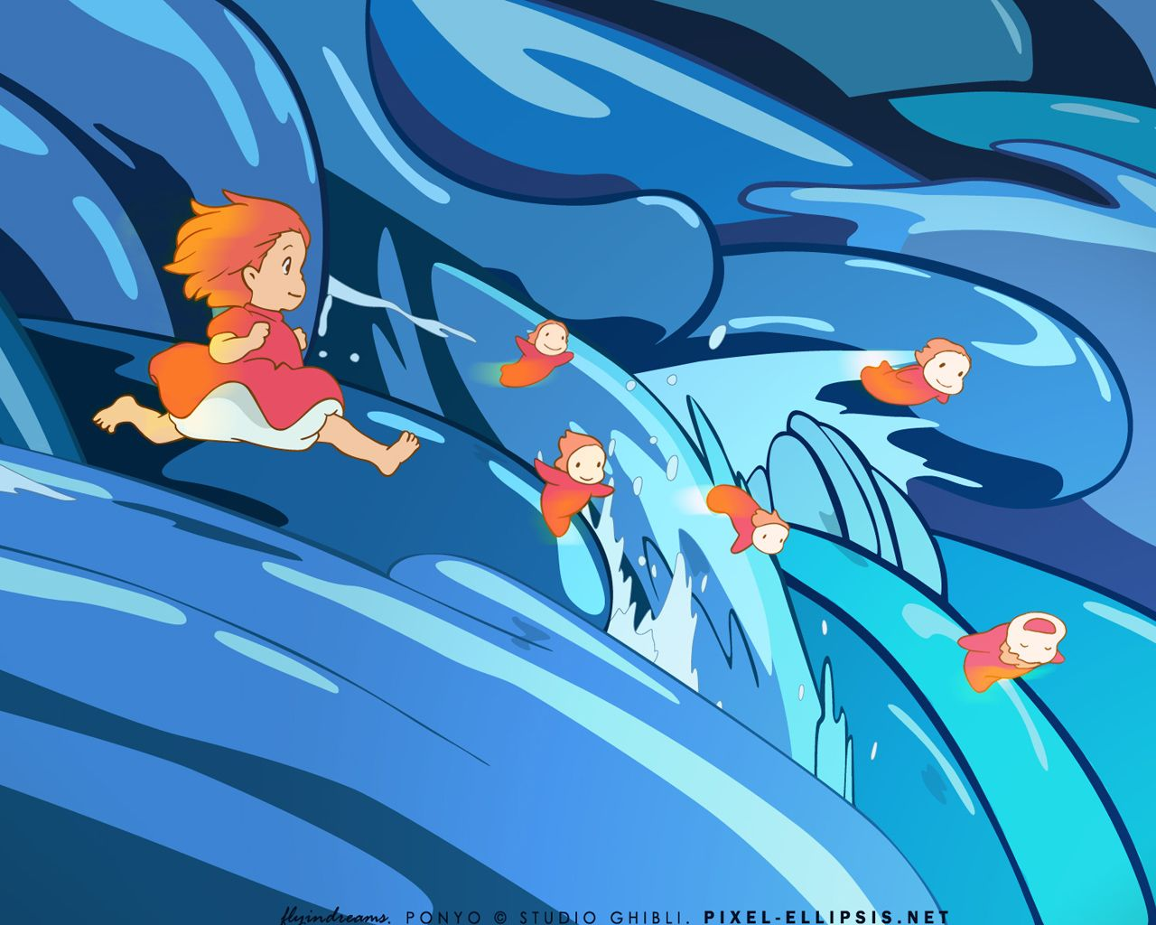 ponyo/complementary(cool)