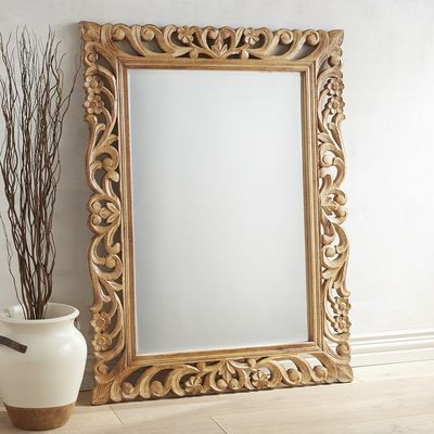 Floral Carved Wood Frame Mirror Pier 1 Imports Wood