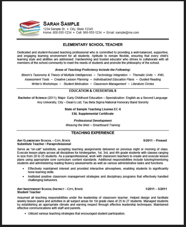 7 sample preschool teacher resume objective Teaching