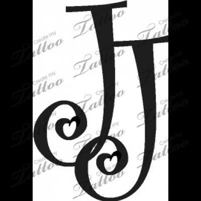 intertwined letter js custom tattoo 6 9883