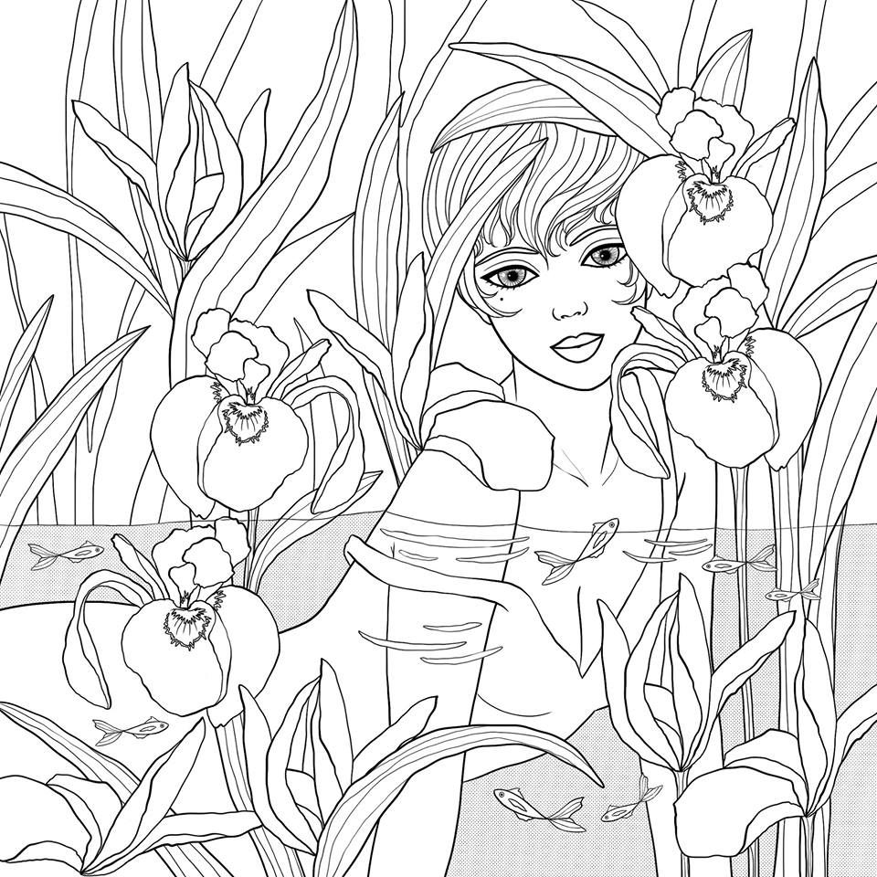 1 Facebook Water Nymph For Coloring Book Mermaids And Co Hachette By Cathy Delanssay Fairy Coloring Pages Free Coloring Pages Pattern Coloring Pages