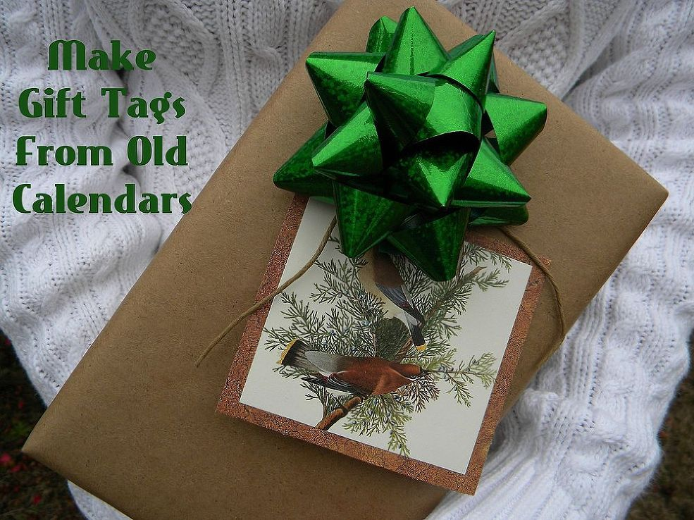 Recycle Old Calendars Into Gift Tags