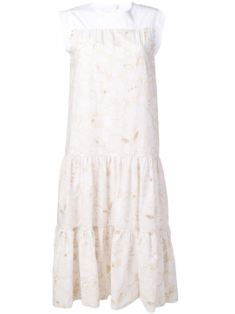 See By Chloe Tiered Summer Dress Farfetch Summer Dresses White Dress Summer Dresses [ 1334 x 1000 Pixel ]
