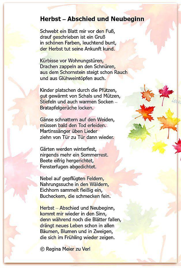 Abschied Und Neubeginn Herbstgedichte Fur Kinder Gedichte Fur Kinder Herbstgeschichten