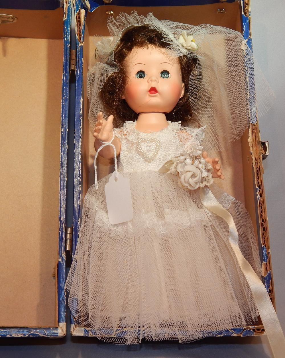 R B Arranbee Littlest Angel Vogue Bride Doll w Case eBay