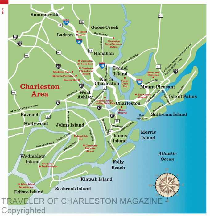 Area Map Charleston SC httpwwwtravelerofcharlestoncommaps