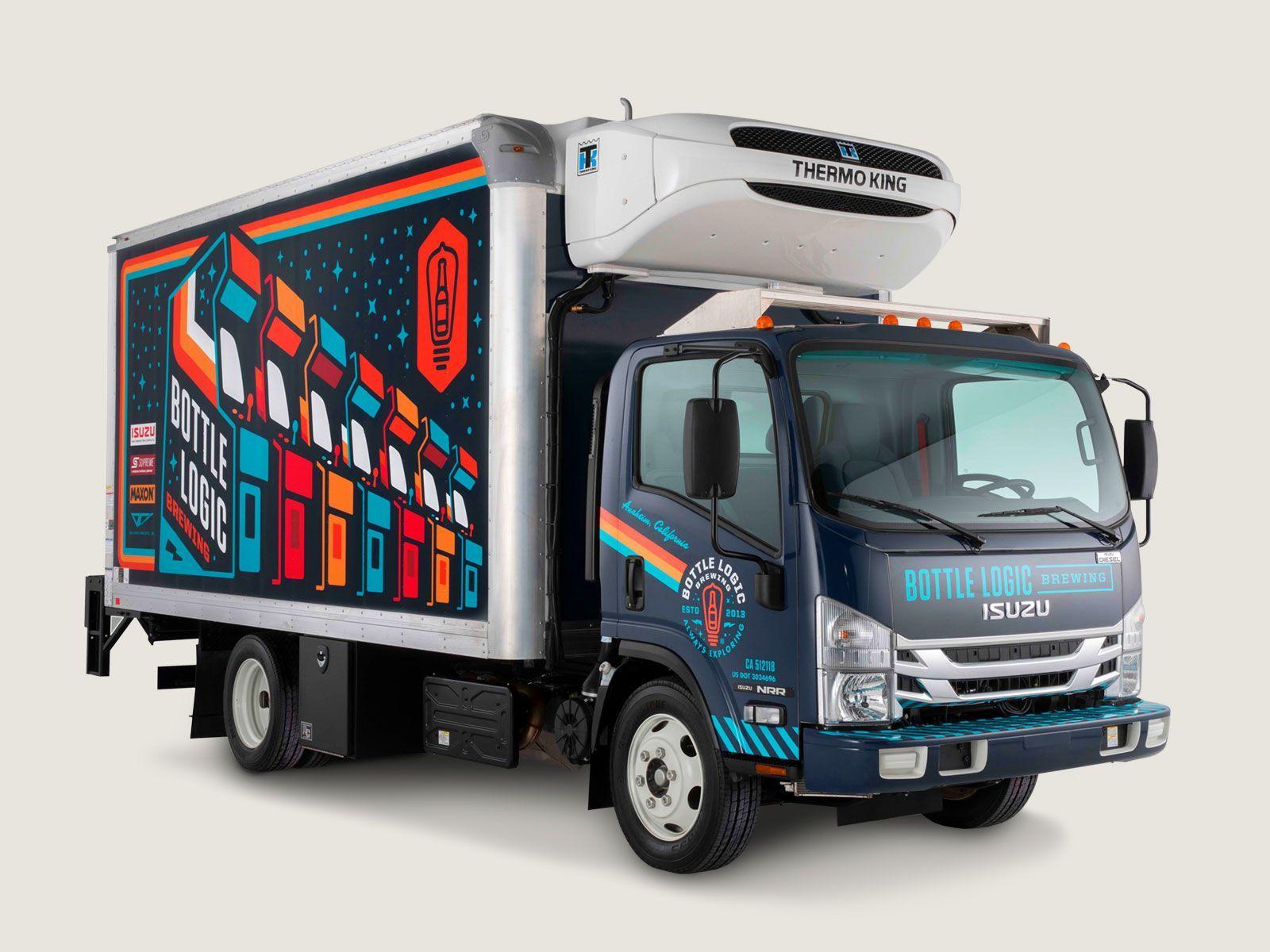 Bottle Logic Isuzu Ultimate Beer Truck Beer Truck Truck Design Beer Station