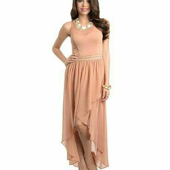 High low nude pink dress High low nude pink dress Dresses High Low