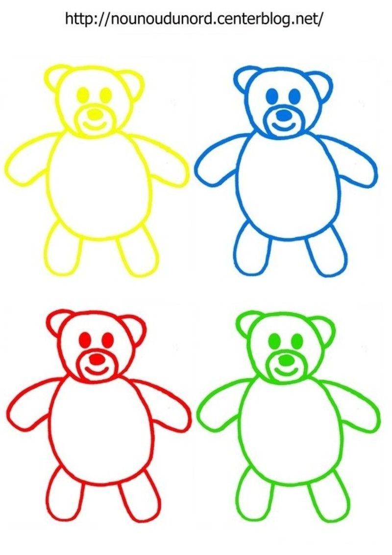 Coloriages nounours gommettes et en couleur album les 3 ours boucle d 39 or coloriage - Image de nounours a imprimer ...