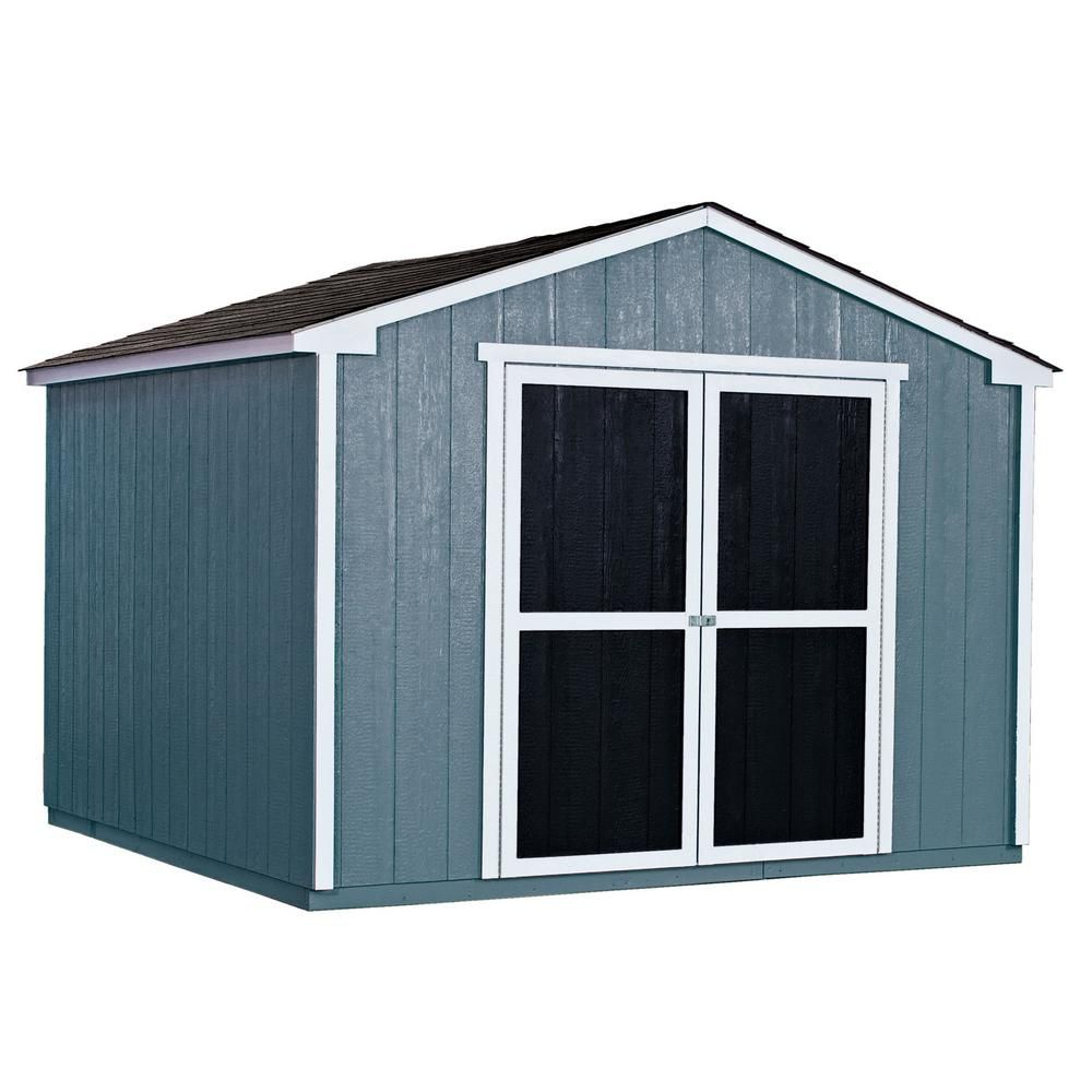 Handy Home Products Do It Yourself Princeton 10 Ft X 10 Ft Wood Storage Shed Building 18250 1 The Home Depot Wood Storage Sheds Shed Storage Building A Shed