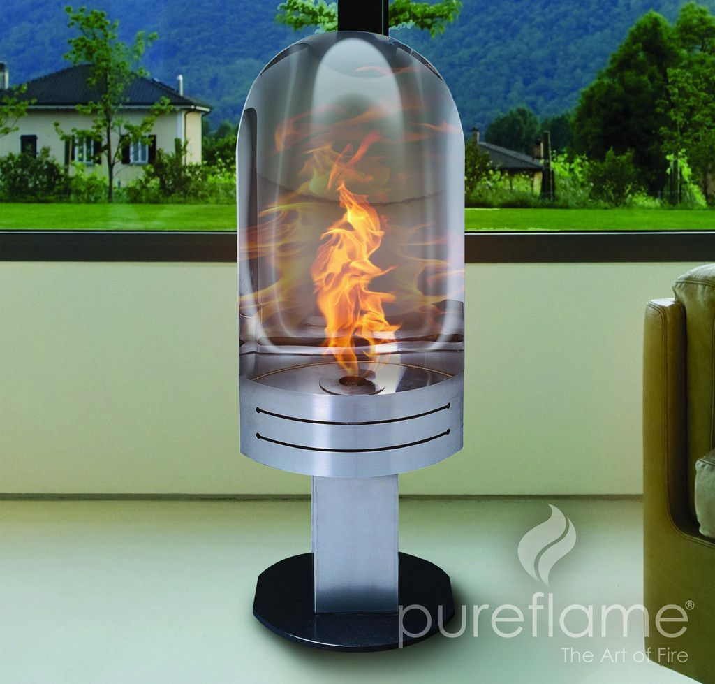 Pureflame Vulcan Free Standing Ethanol Fireplace (VUL001