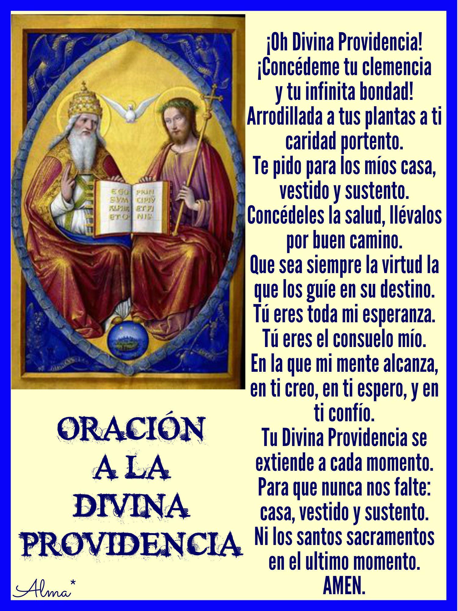 Oración A La Divina Providencia Oh Divina Providencia