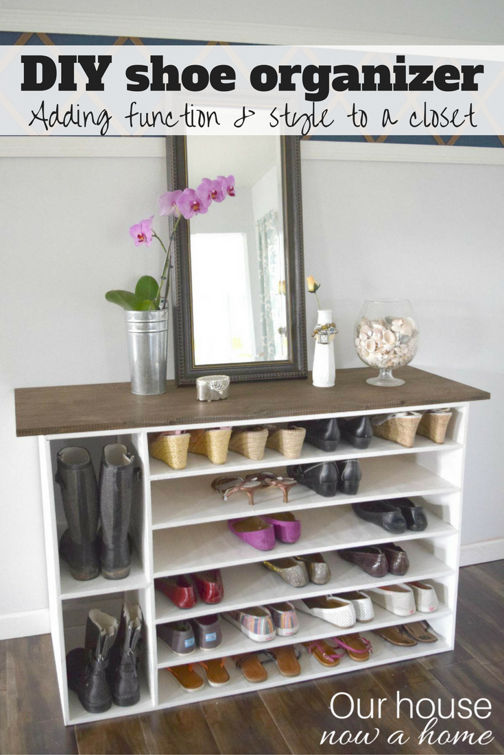 How To Make A DIY Shoe Organizer And Rack For The Closet. This Is Also  Pretty Enough To Be A Great Addition To A Room As A Furniture Piece, ...