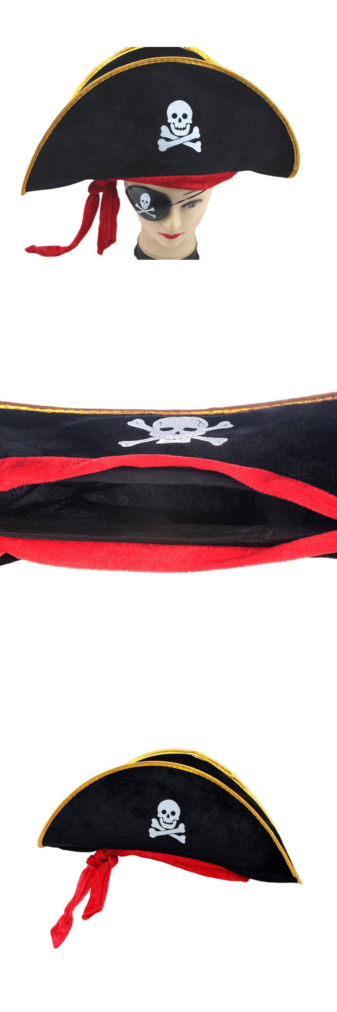 1b87deecb4a  Visit to Buy  Hot sale Halloween Accessories Skull Hat Caribbean Pirate  Hat Skull Pirate Hat Piracy Hat Corsair Cap Party Supplies  Advertisement