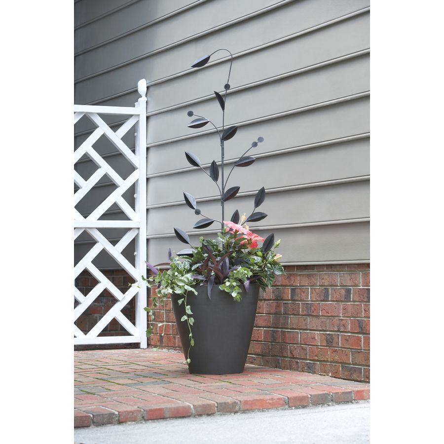 Shop 15.8-in W x 56.5-in H Powder-Coated Leaf Stake Garden Trellis at Lowes.com