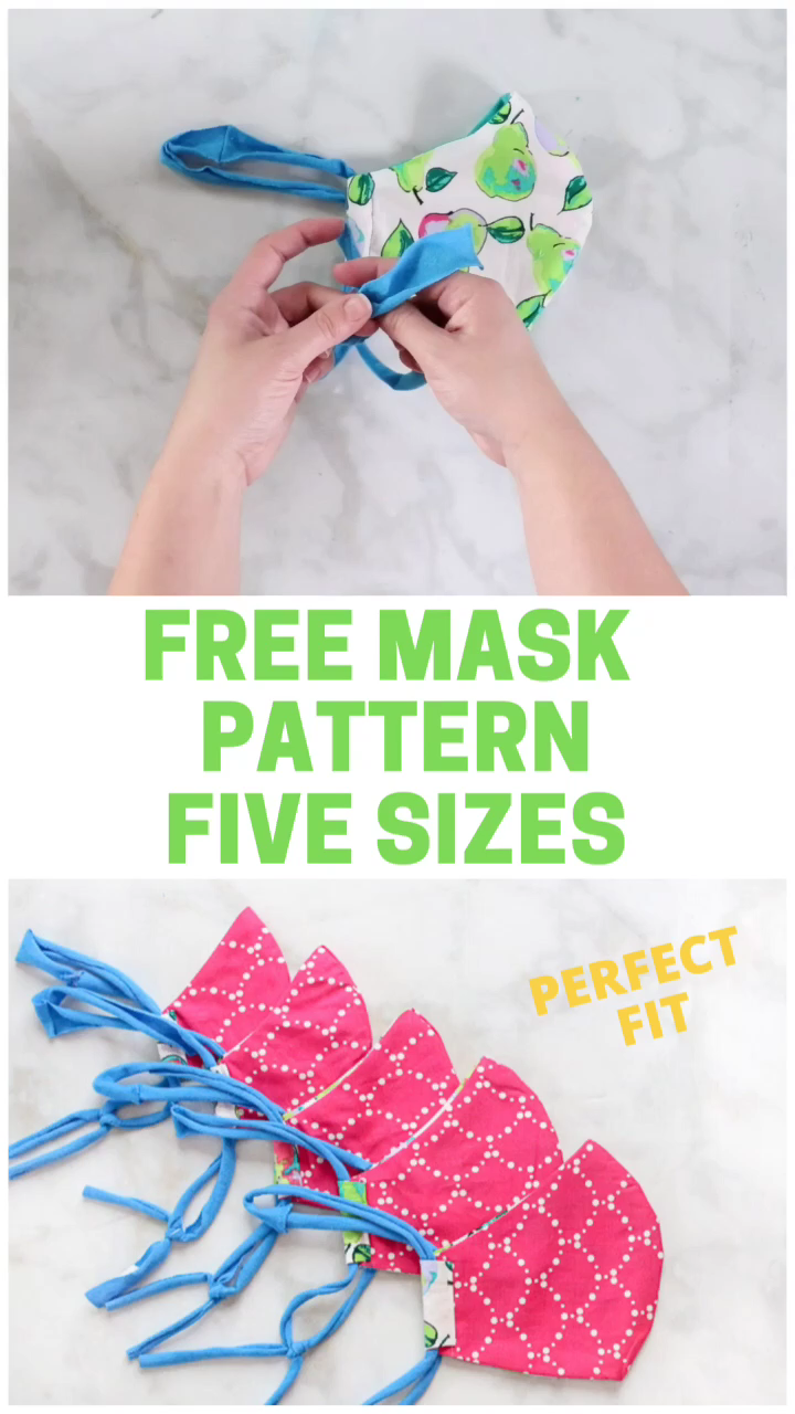 SEW the BEST Fitting Medical MASK with FILTER, FREE Pattern & FIVE Sizes!!! – Face masks
